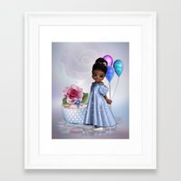 birthday Framed Art Prints featuring Birthday by Illu-Pic-A.T.Art