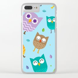 Owl Pattern Clear iPhone Case