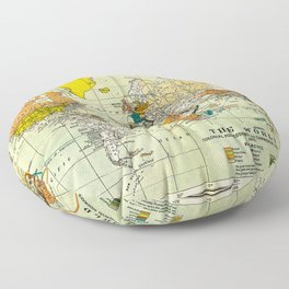 Map of the old world Floor Pillow
