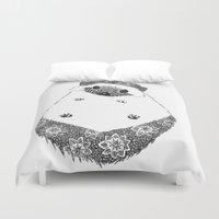 hedgehog Duvet Covers featuring Hedgehog by Janin Wise