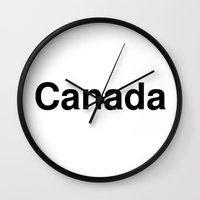 canada Wall Clocks featuring Canada by linguistic94