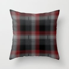 Black, Red, Lumberjack Plaid Throw Pillow