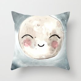 Lulu's moon Throw Pillow