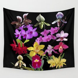 Orchids Galore Wall Tapestry