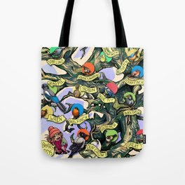 February Birds - full version Tote Bag
