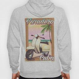 Varadero Cuban vintage scooter poster Hoody