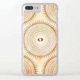 Watercolor music mandala no 2 Clear iPhone Case