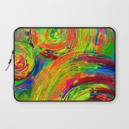 Gyps Dance 10 - Detail Relief Impasto Textured Modern Abstract Cercles Painting Art Print Laptop Sleeve