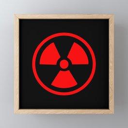 Red Radioactive Symbol Framed Mini Art Print