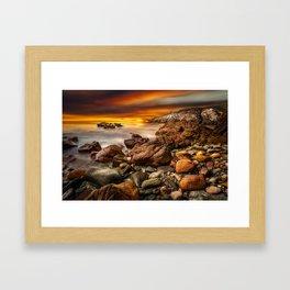 Rhoscolyn Coastline Sunset Framed Art Print