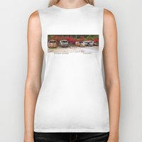 volkswagon Biker Tanks featuring Retired Hippies by BWooley Photo