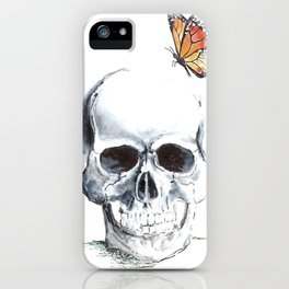 butter skull iPhone Case