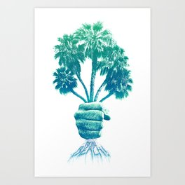 Beach Bouquet Art Print