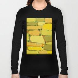 Cartoon Stone Wall Long Sleeve T-shirt