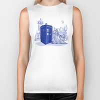 hallion Biker Tanks featuring Come Away with Me by Karen Hallion Illustrations