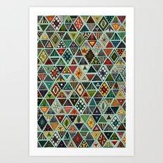 sun bear geo mint Art Print