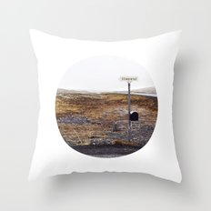 Post box, Iceland Throw Pillow