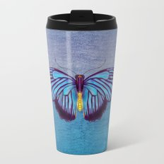 Butterflies and Burlap Travel Mug