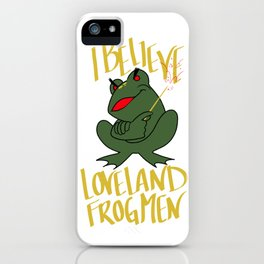 the frogman iPhone Case