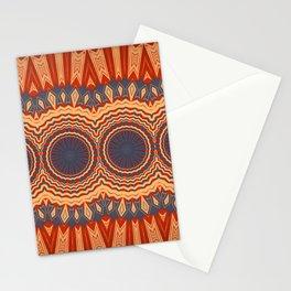 Orange Blue Multi Mandala Design Stationery Cards