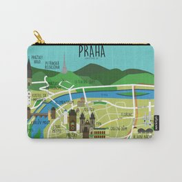 Prague map illustrated Carry-All Pouch