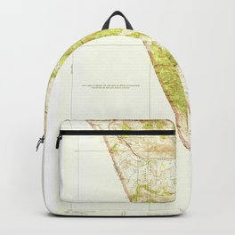 Gorman, CA from 1938 Vintage Map - High Quality Backpack