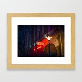 Hotel Neon Sign Framed Art Print