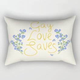 gay love saves Rectangular Pillow