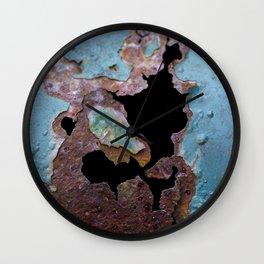 Teal Peel III Wall Clock