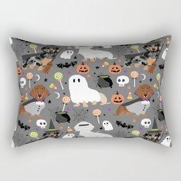 Dachshund dog breed halloween cute pattern doxie dachsie dog costumes Rectangular Pillow