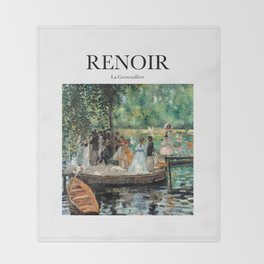 Renoir - La Grenouillère Throw Blanket
