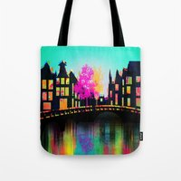 amsterdam Tote Bags featuring AMSTERDAM by mark ashkenazi
