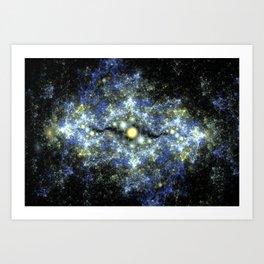 The Starry Sky at Night. Art Print