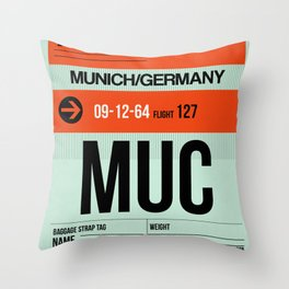 MUC Munich Luggage Tag 2 Throw Pillow