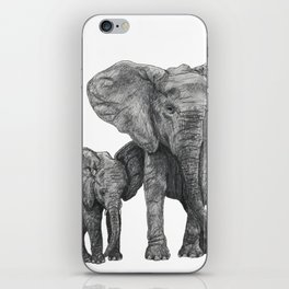 African Elephant and Calf iPhone Skin