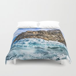 Sleeping dragon. Lake Baikal, island Olkhon Duvet Cover