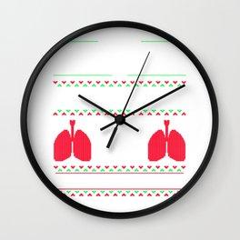 Ugly Christmas Snowflakes Reindeer Trees Wall Clock