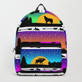 animal silhouette pattern Backpack