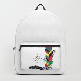 Boho Festive Feathers Backpack