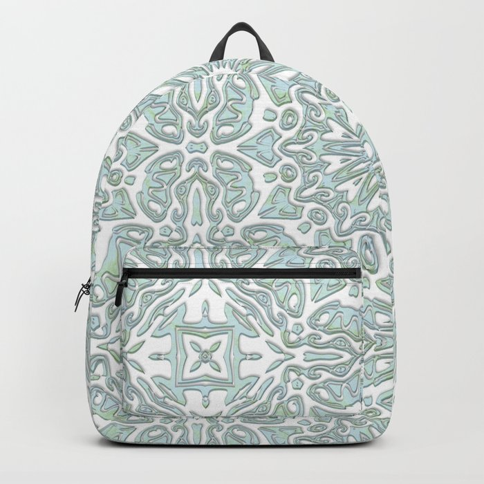 Turquoise teal ornamental pattern Backpack