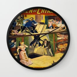 Vintage poster - The Queen of Chinatown Wall Clock