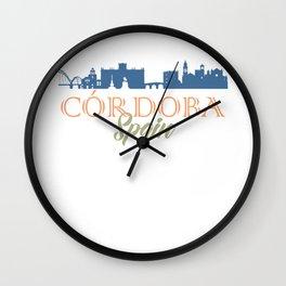 Cordoba, Spain Skyline Wall Clock