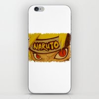 naruto iPhone & iPod Skins featuring Naruto Angry by DeMoose_Art