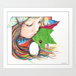 If Mother Earth Was a Child... Art Print