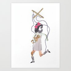 Vintage Puppet take two Art Print