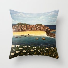 St. Ives Painting Throw Pillow