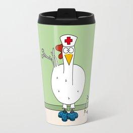 Eglantine la poule (the hen) dressed up as a nurse. Travel Mug