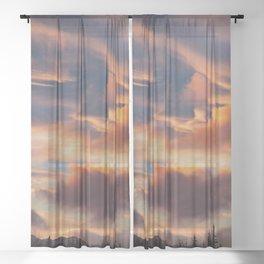 Good Morning Anchorage, Alaska Sheer Curtain