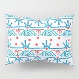 Aztec pattern in blue Pillow Sham