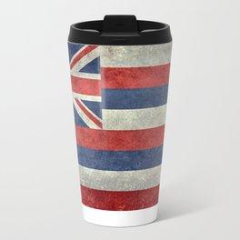 Hawaiian Flag in Vintage Retro Style Travel Mug